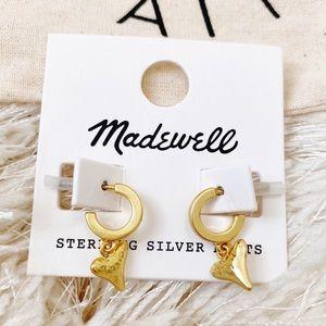 NWT Madewell Shark Tooth Huggie Hoop Earrings